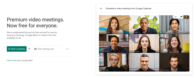 Google Meet start a meeting