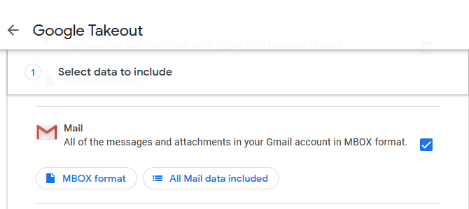 Google Takeout mail