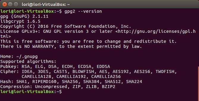 gpg encryption linux command line