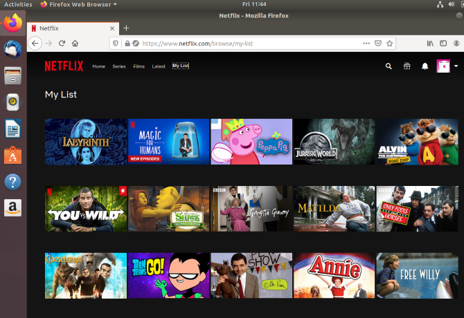 Access your Netflix watchlist on Linux