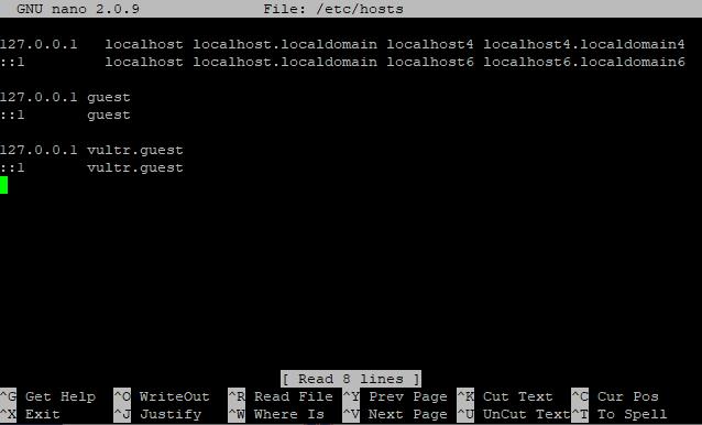 Edit a Linux hosts file