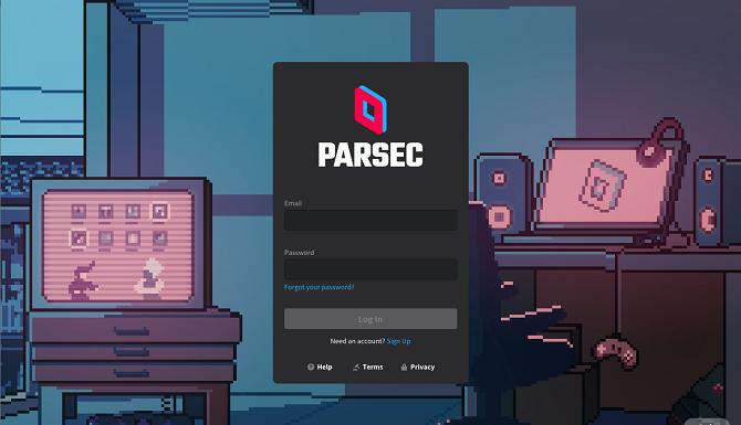 зарегистрироваться игровой клиент parsec