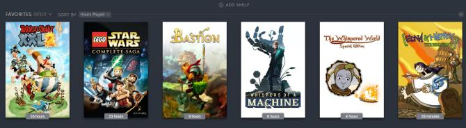 Steam favorites shelf