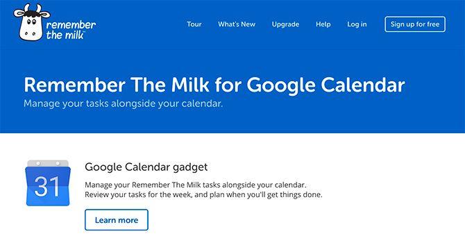 Делать приложения, которые синхронизируются с календарем Google Помни о молоке