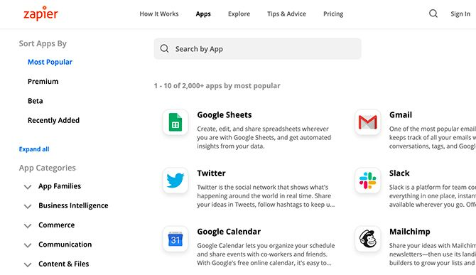Сделать список, который синхронизируется с Google Calendar Zapier