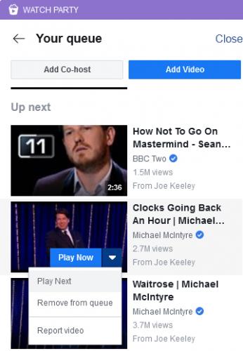 Facebook Watch Вечеринка в очереди