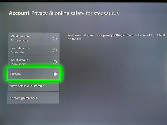 Xbox One Privacy