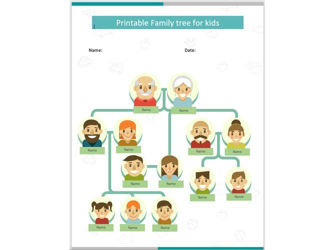 Family Tree Template Cartoon-TemplateNet
