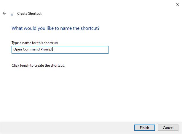 Name a new shortcut