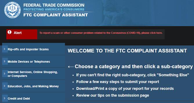 FTC Complaint Form