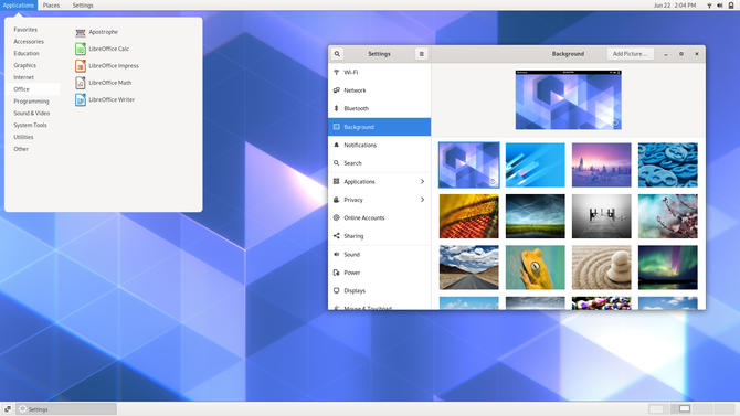 GNOME Classic desktop environment