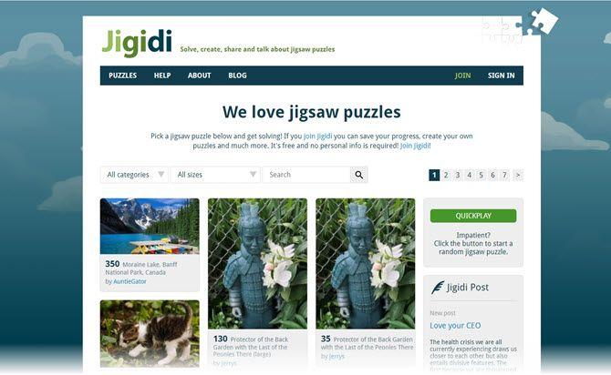 Jigidi Jigsaw puzzle website