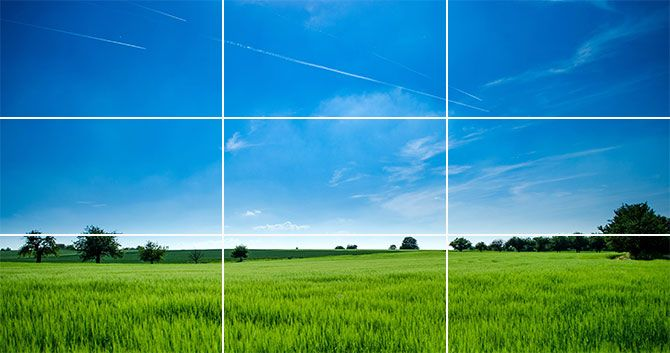 Rule of thirds in landscape photos