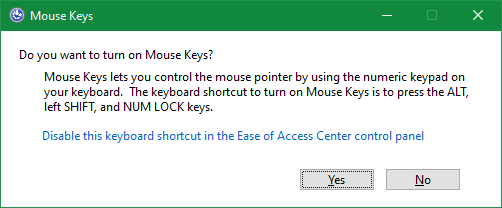 Windows mouse buttons