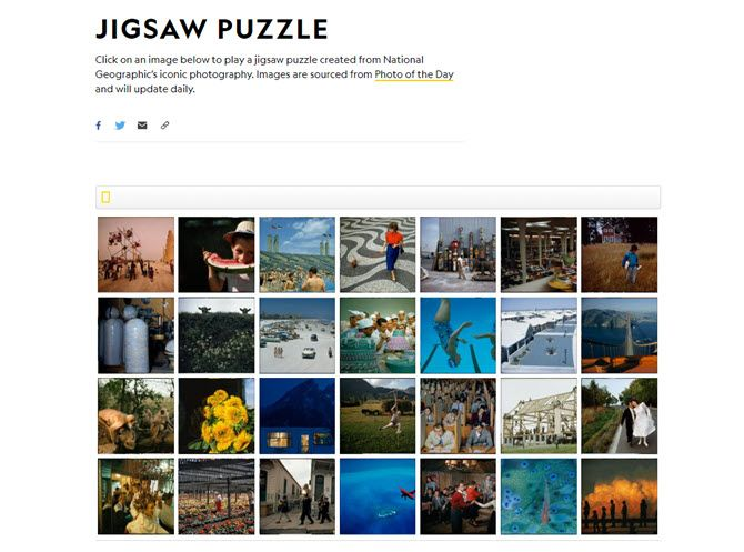 National Geographic Jigsaw Puzzle Generator