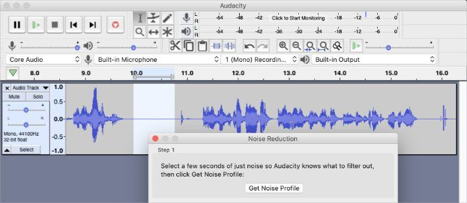 Noise Reduction window in Audacity
