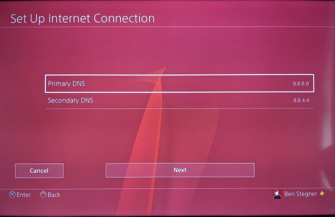 PS4 DNS Settings