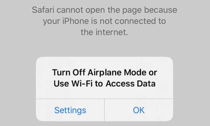 airplane mode affects wi-fi internet connections