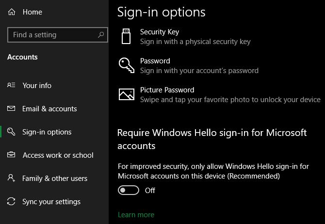 Windows 10 Windows required Hello