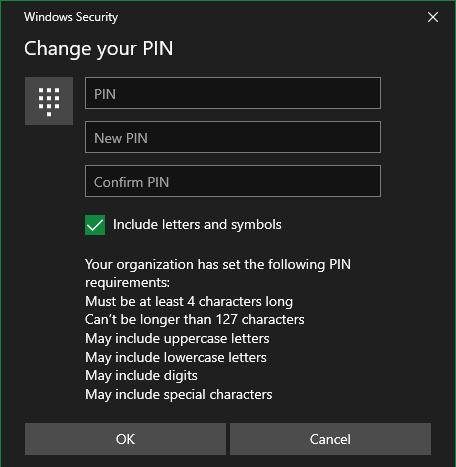 Windows 10 Set PIN