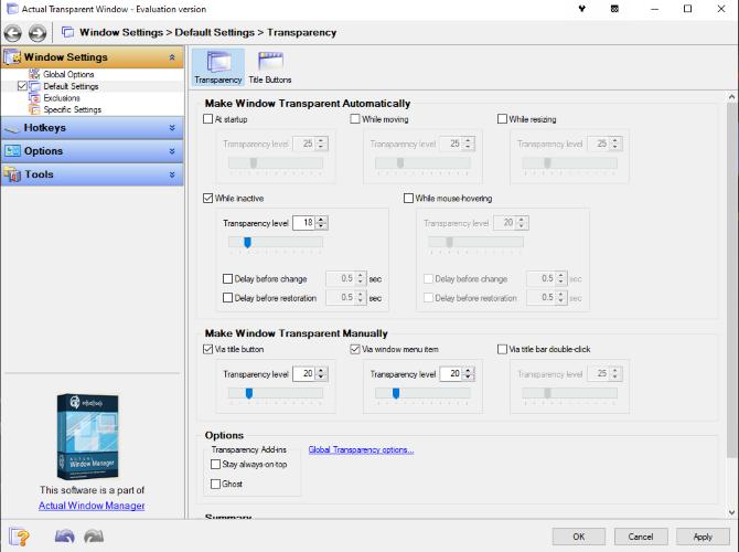 The Actual Transparent Window app