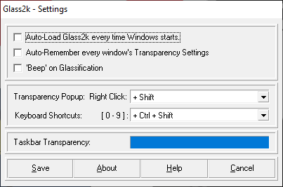 The Glass2k application