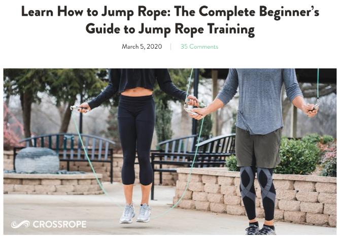 Руководство для начинающих Crossrope по прыжкам со скакалкой учит основам скакалки для взрослых, чтобы избежать травм.