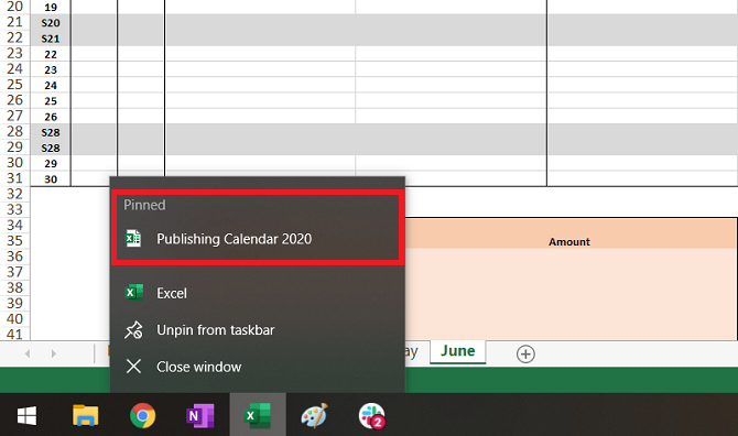 Excel pin file