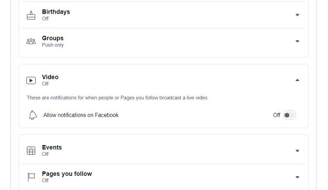 Facebook живые уведомления