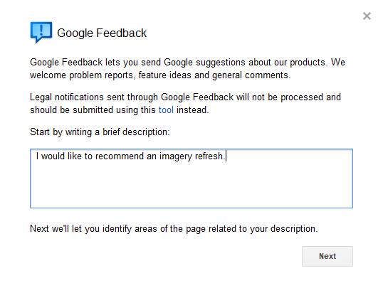 Google Earth feedback
