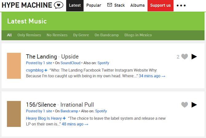 hypemachine music app