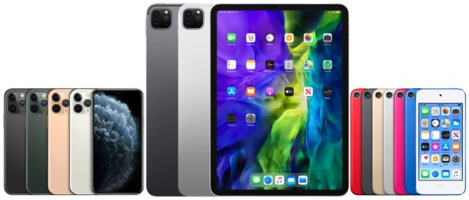 iPhone, iPod touch and iPad Pro devices