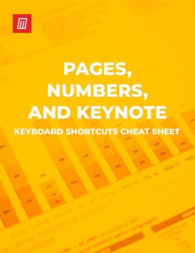Keyboard Shortcuts for Pages, Numbers, and Keynote on Mac