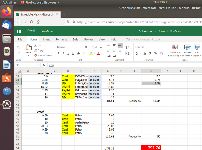 Use Excel in your Linux browser
