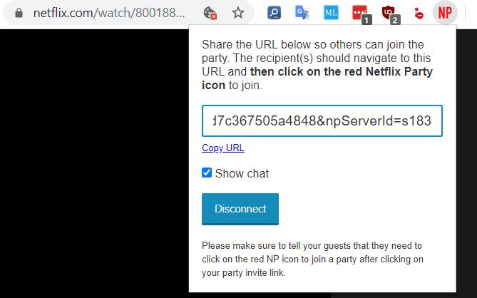 netflix party link