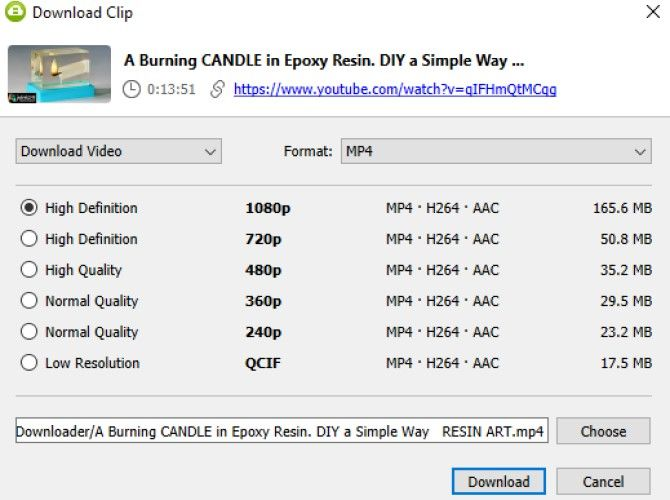 Download YouTube Video Quality