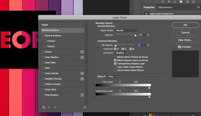 reduce opacity photoshop