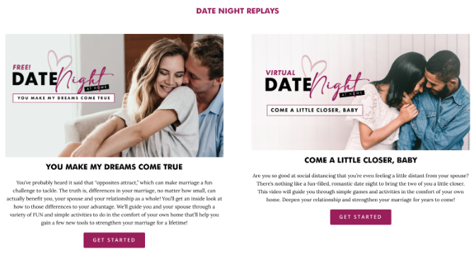 First Things First предлагает бесплатные гиды на виртуальных свиданиях, а также на свиданиях DIY.