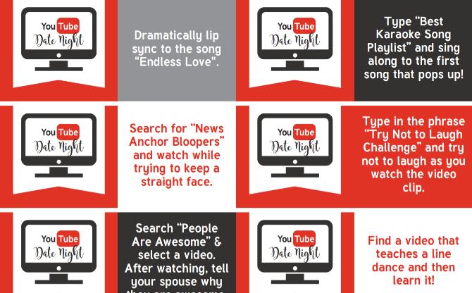 Бесплатный гид Date Date от YouTube для ночных свиданий - это романтический и дешевый способ общения с вашим партнером.