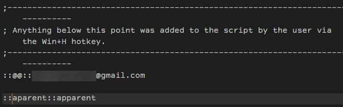 AHK Autocorrect User Section