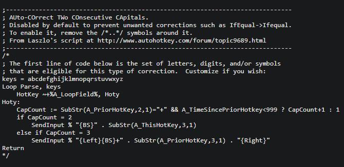 AutoCorrect AHK Two Capitals