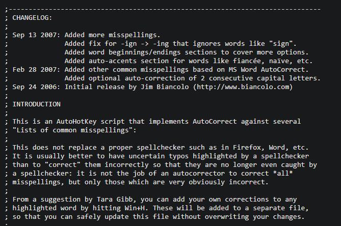 AutoHotkey AutoCorrect Script Intro