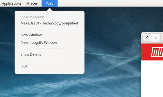 GNOME Classic app menu