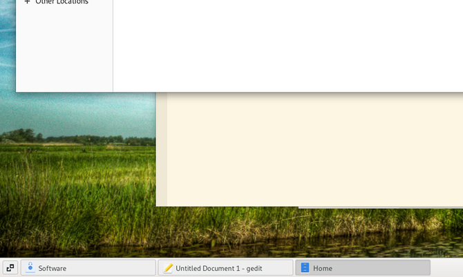 GNOME Classic list of open windows