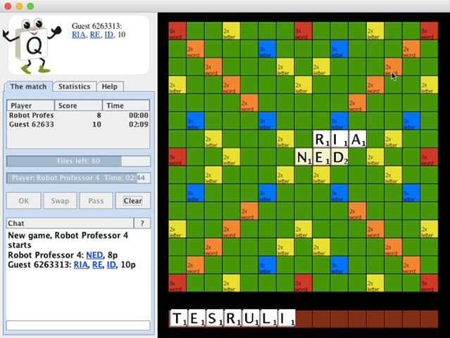 Quadplex is an online Scrabble game