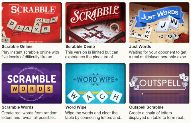 Online Scrabble games