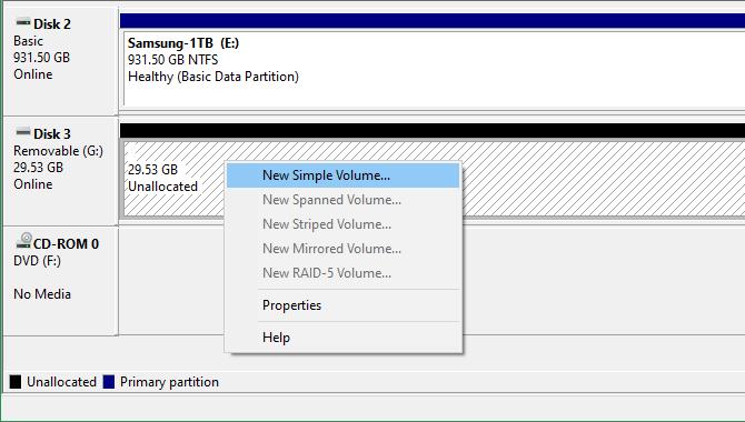 Windows 10 New Volume