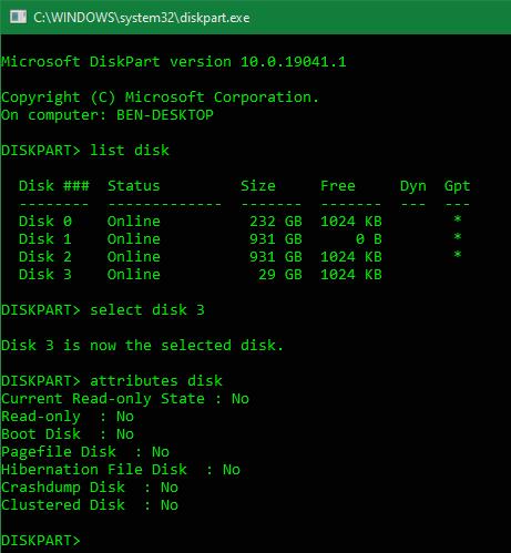 Windows Diskpart