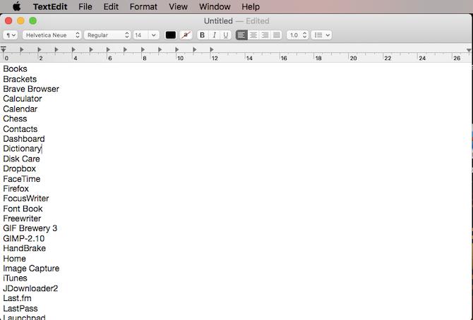 apps on mac list