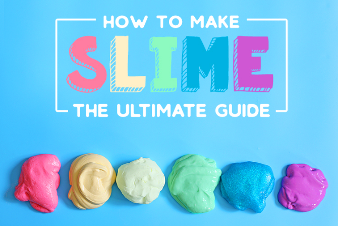 Make five different types of Slime at home with The Craft Patch's ultimate guide to DIY Slime
